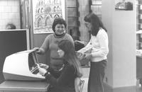 Memorial Library workers at Mankato State University, 1980?