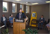 Wissink dedication at Mankato State University, 1988