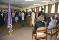 Wissink dedication day at Mankato State University, 1988
