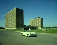 Gage residence community dormitory at Mankato State College 1967-09-28