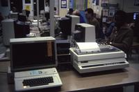 Mankato State University, Memorial Library: computer lab, 1990