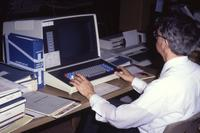 Mankato State University, Memorial Library:computer lab, 1990