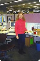 Minnesota State University, Mankato, Memorial Library Services employee Rosie Mock, March 09 1999.