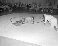 Wrestling competition at Mankato State College 1958-03-19