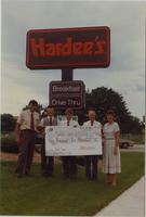 Hardee's restaurant by Mankato State University, August 1987.