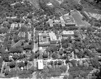 An aerial view of Valley Campus, Mankato State College, 1958-03-25.