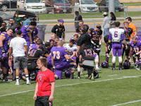 MSU Spring football game, post game, Todd Hoffner, Minnesota State University, Mankato, 2016-04-16