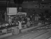 Carnival in gymnasium at Mankato State College 1959-04-10