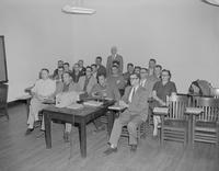 A graduate class observing slides at Mankato State College 1959-05-01