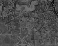 Ariel view of Mankato at Mankato State College 1959-08-28