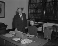 Hesla, Arden E.  & Prof. of Ed. with secretary in office at Mankato State College 1959-01-06