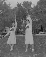 Cheerleaders at Mankato State College, 1959-10-29.