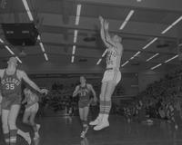 Men's basketball MSC vs. St.Cloud  at Mankato State College, 1964-02-27.
