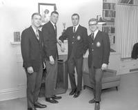 Members of Alpha Beta Mu at ABM house, at Mankato State College 1964-03-02