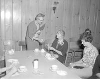 Retirement celebration for Ellen Comstock at Mankato State College,1964-03-17.