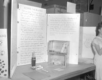 Science fair project on diets at Mankato State College, 1964-04-15.