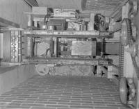 Top down view of a dumb waiter in the cafeteria at Mankato State College, 1962-03-30.