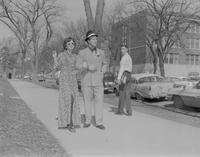 Man and women dressed up at Mankato State College, 1962-04-17.