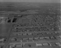 Aerial photograph of Highland campus area at Mankato State College, 1962-11-21.