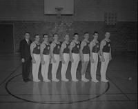 Gymnastic's varsity squad at Mankato State College, 1962-12-18.