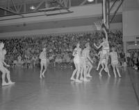 MSC Men's basketball game at Mankato State College, 1962-01-07.