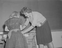 Christmas party for children in Special Education class at Mankato State College, 1962-01-07.