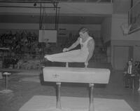 Member of South Illinois Gymnastics team at Mankato State College, 1963-01-28.