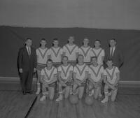 The Men's Basketball Team of Mankato State College. 1963-02-08