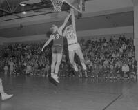 Mankato Basketball game against North Michigan at Mankato State College, 1962-01-31.