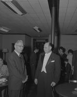 Dr. Gerrit Wissink and Mr. Phillip Farkas at 1962 Snow Week concert at Mankato State College, 1963-02-13.