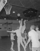 Alpha Beta Mu Intramural Basketball game at Mankato State College, 1963-02-23.