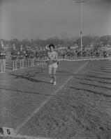 MSC Marching band at Dad's Day Football game at Mankato State College, 1961-11-13.