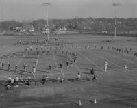 Band at Dad's Day Football Game, Mankato State College, 1961-12-05.