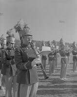 Band at Mankato State College Football Game, 1961-12-05.
