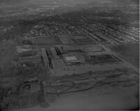 Aerial view of Upper Campus at Mankato State College, 1961-11-09.