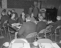 Phi Beta Lambda Christmas Party at the loft. Mankato State College. 1962-01-02.