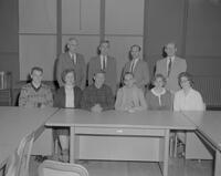 Officers and advisers of Math Club at Mankato State College, 1962-01-12.