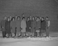 Snow Week contestants, Mankato State College, 1962-01-15.