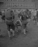 Mankato State College Football Team Spring Practice preparations, 1962-05-07.