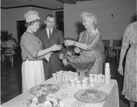 Mrs. Crawford at Senior Reception, Mankato State College, 1962-06-04.