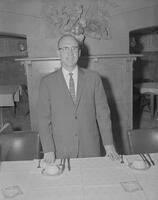 Speaker for the spring dinner at Elks Club at Mankato State College, 1962-05-17.