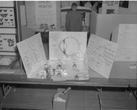 Eye display at Mankato State College Science Fair, 1963-04-17.