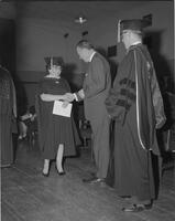 Governor Elmer Anderson at commencement, Mankato State College, 1962-06-06.