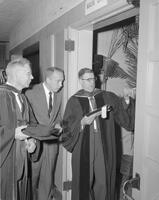 President Crawford at Spring Graduation 1962. Mankato State College, 1962-06-06.