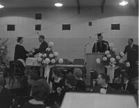 Governor Elmer Anderson at 1962 Commencement, Mankato State College, 1962-06-06.