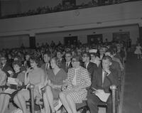An audience at an unidentified Mankato State College event, 1962-05-25.
