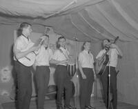 The Villagers playing at Mankato State College Charity Carnival, 1963-04-02.