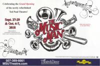 2018-09-27, The Music Man, Promotional Poster. Theatre and Dance Department. Minnesota State University, Mankato.