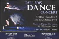 2015-12-04, Fall 2015 Dance Concert, Promotional Poster. Theatre and Dance Department. Minnesota State University, Mankato.