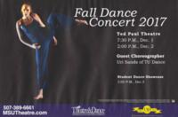 2017-12-01, Fall Dance Concert 2017, Promotional Poster. Theatre and Dance Department. Minnesota State University, Mankato.